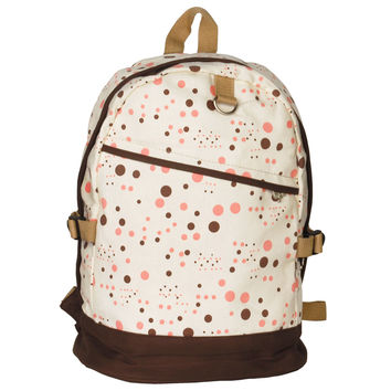 Happy Painting Fabric Art School Backpack Outdoor Daypack