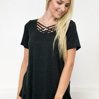 Basic Strappy Top | Black