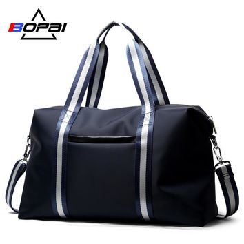 BOPAI Casual Men Travel Luggage Bags Light Weight Travelling Bags and Luggage for Women Unisex Blue Overnight Duffle Bag