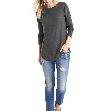 Solid slub tunic | Gap
