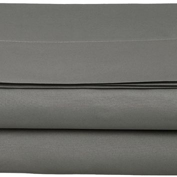 Supreme 1800 Collection Single Flat Sheet - Full Size, Charcoal Stone Grey