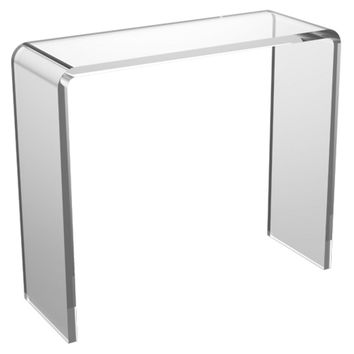 "Console Asher 30"" Acrylic  Table, Clear, Acrylic / Lucite, Console Table"