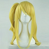 Weeck Anime Long Vocaloid Fairy Tail Lucy Ponytail Yellow Cosplay Wig