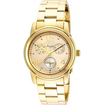 Invicta Women's 19163 Angel Quartz Chronograph Gold Dial Watch