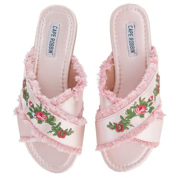 Cape Robbin Coma-7 Women's Pink Sandals