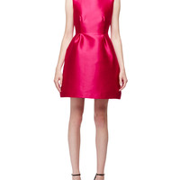 sleeveless open-back fit-&-flare dress, sweetheart pink, Size: