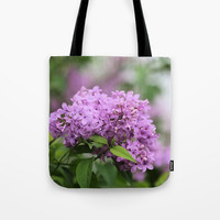 Lilac Bouquets Tote Bag by Theresa Campbell D'August Art