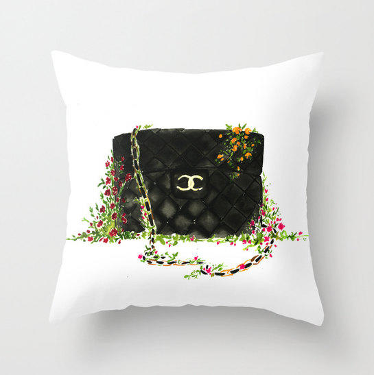 Black Chanel bag Throw Pillow - Home from KomaArt on Etsy