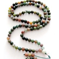 6mm 108 Multiple Color Stone Beads Buddhist Prayer Rosary Mala Necklace
