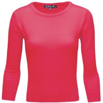 MAK Pullover Sweaters in Red Pink