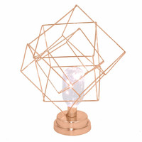 45697 Metal Led Lamp - Copper - Benzara
