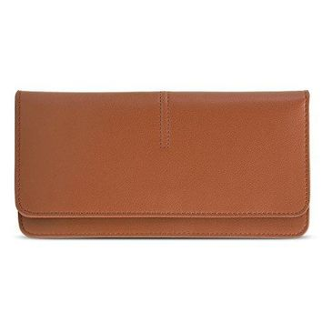ECOSUSI Thin Wallet Long Bifold Leather Purse Minimalist Clutch Card Holder for Women and Men