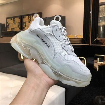 Balenciaga White/clear Triple Sneaker