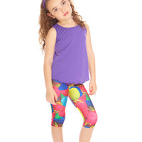Kids Strawberries Capri Leggings