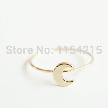 2016 New Fashion Simple flat crescent moon knuckle ring knuckle ring pinky ring EY-R133