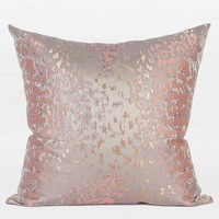 "Pink Leopard Pattern Satin Jacquard Pillow 20""X20"""