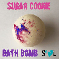 Sugar Cookie Bath Bomb- Jumbo Bath Bombs 8 oz- Sugar Cookie Bath Fizzy