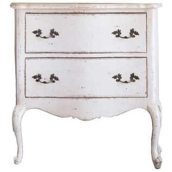 Eloquence Clementine Weathered White Nightstand