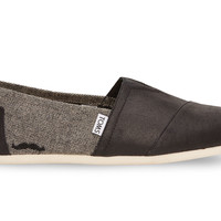 TOMS for Movember Grey and Black Coated Canvas Herringbone Men's Classics US