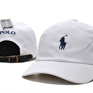 White POLO Baseball Cap Hat