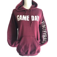 Game Day Hooded Volleyball Sweatshirt with Headband / Bracelet and Hair Tie