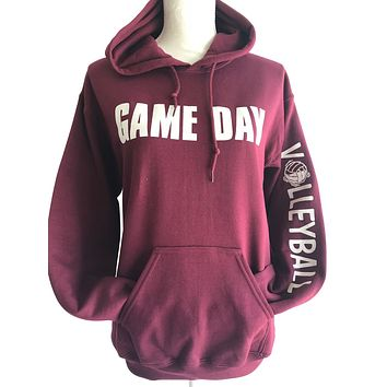 4f989e0047d Game Day Hooded Volleyball Sweatshirt with Headband   Bracelet a