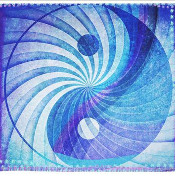 Yin Yang Blue and Pink Mandala Boho Wall Tapestry Hippy Yoga Meditation Mandala Wall Hanging