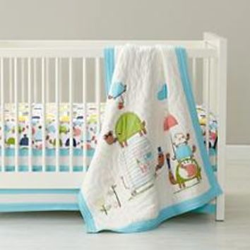 See Turtles Crib Bedding in Crib Bedding Collections | The Land of Nod