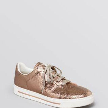 MARC BY MARC JACOBS Snake Embossed Metallic Lace Up Sneakers