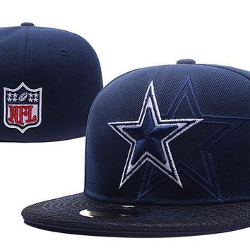 PEAPON Dallas Cowboys New Era 59FIFTY NFL Football Hat Blue-White