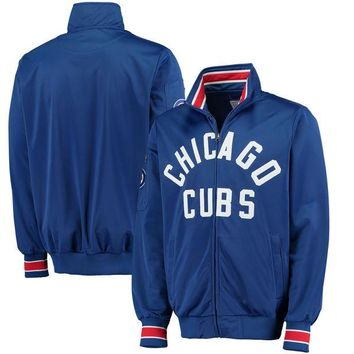 Men's Chicago Cubs G-III Sports by Carl Banks Royal Contender Full-Zip Jacket