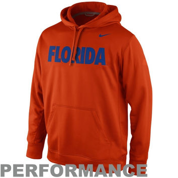 Nike Florida Gators KO Pullover Performance Hoodie - Orange/Royal Blue