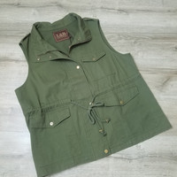 Army Green Sleevless Vest