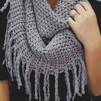 Authenticity Infinity Scarf - Grey