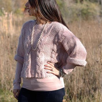 Mohair Pullover sweater - Dusty pink