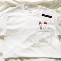 Josh & Tyler Pocket T-Shirt  © Design by Victoria Ignacio
