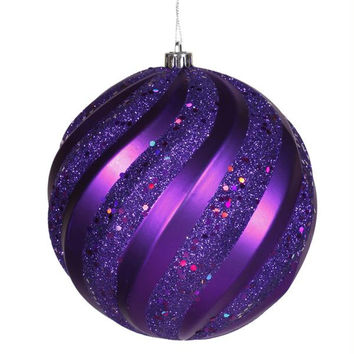 Christmas Ornament - Purple Swirl Ball