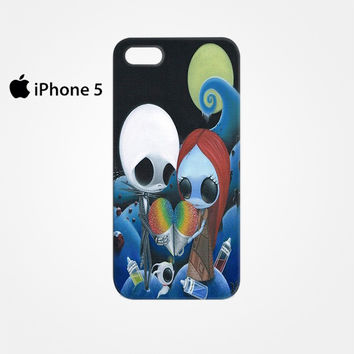 jack and sally nightmare before christmas rainbow ice cream for Iphone 4/4S Iphone 5/5S/5C Iphone 6/6S/6S Plus/6 Plus 3D Phone case