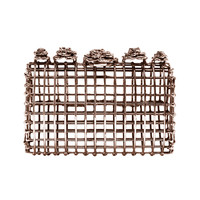Anndra Neen Open Cage Rose Clutch - Metal Evening Clutch - ShopBAZAAR