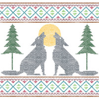 Howling Wolves Needlepoint Kit by Perkins and Morley