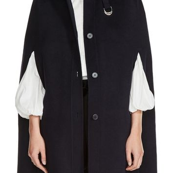 maje Hooded Wool Blend Cape | Nordstrom