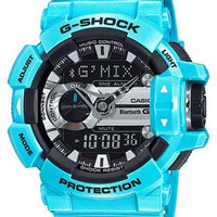 Casio Mens G-Shock G-Mix Bluetooth Watch - Blue Case & Strap - Flash Alert