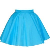 Turquoise Full Circle Skirt | Style Icon`s Closet