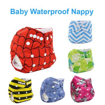Newborn Cloth Diaper Cover Waterproof Reusable Nappies Happy Flute Washable Training Pants Baby Cloth Diaper Cover for Newborn