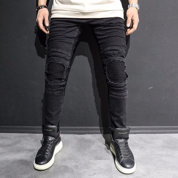 Black Denim Jeans Kee Patched Fashion