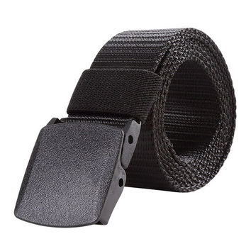 120CM  Length Mens Womens Outdoor Metal Buckle Nylon YKK Waist Belts Multicam Molle Automatic Buckle Army Tactical Military Belt