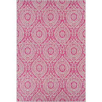 Eagean lll Indoor Outdoor Rug | Pink