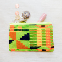 African Print Make Up Bag/ Gift for Her/ Mothers Day Gift/ Pencil Case/ Zipper Pouch/ Best Friend Gift/ Gift for Women/ Wife Gift/ Pouch