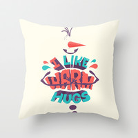 Frozen Olaf: I like warm hugs Throw Pillow by Risa Rodil
