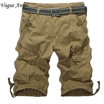 Vogue Anmi 2017 Plus Size 30-40 Men Short Shorts Mens Shorts Army Green,Black,Blue Color 3610 Mens Military Cargo Shorts